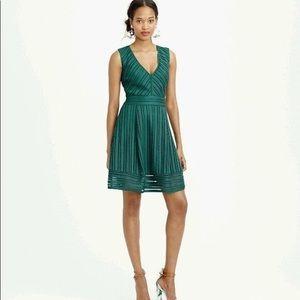 J Crew Striped Eyelet Swing Mini Dress Size 00